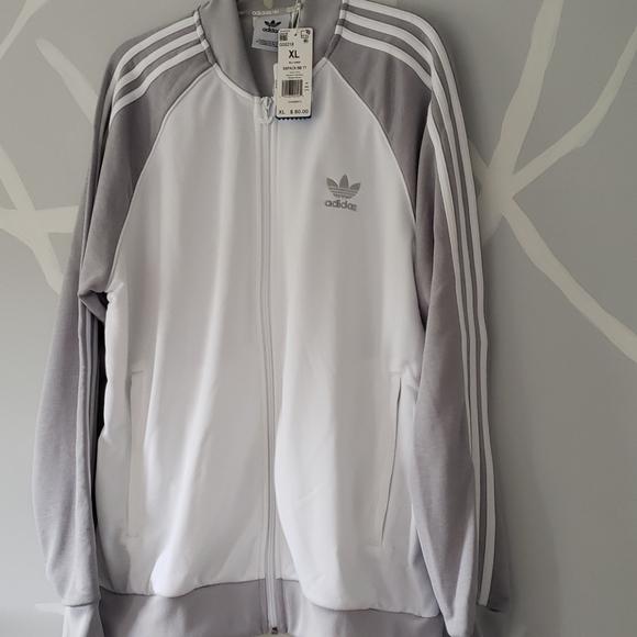 Nwt Mens Adidas Track Jacket Grey Xl